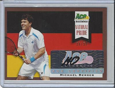 2013 Ace Authentic Grand Slam Tennis National Pride Brown Michael Berrer 36/50
