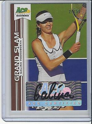 2013 Ace Authentic Grand Slam Tennis Brown Auto Galina Voskoboeva 24/50