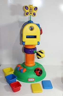Little Tikes Buzzy Bee Mail box w mail stacking cups red blue yellow Toddler toy