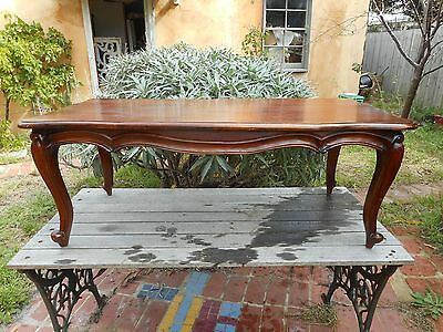 Antique vintage French style carved coffee table