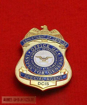 Historisches Department of Defense Special Agent Badge hallmark original