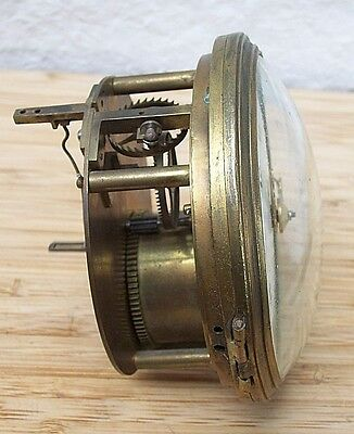 Rare Antique Verge French Clock Movement with Silk Suspension