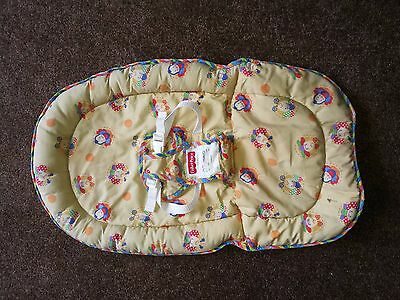 Yellow Fisher Price Baby Bouncer Cover with pretty pictures