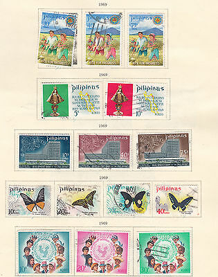 PHILIPPINES  ^^^^ 1969   used   SETS   collection    @ea6108xxbphi9