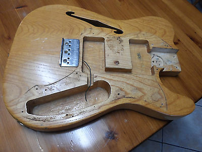 Vintage 1972 Fender Telecaster Thinline Guitar Body USA