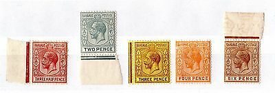 Bahamas KGV 1921 Set of 5 To 6d Mint MNH X6909