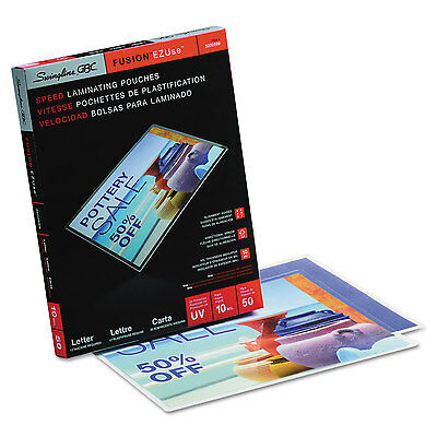 Ezuse Thermal Laminating Pouches, 10 Mil, 11 1/2 X 9, 50/box-SWI3200599