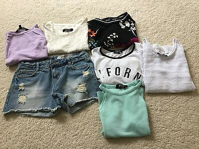 Girls new look bundle age 12/13, tops, shorts and dresses