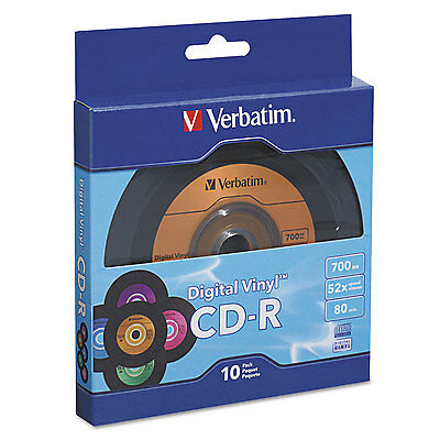 Cd-R With Digital Vinyl Surface, 80min, 52x, 10/pk Spindle-VER97935