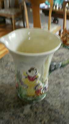 Rare 1938 Wade Heath Disney Snow White And The Seven Dwarfs Musical Jug #1