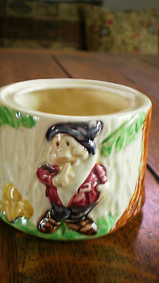 Rare 1938 Wade Heath Disney Snow White And The Seven Dwarfs Honey/Jam Pot