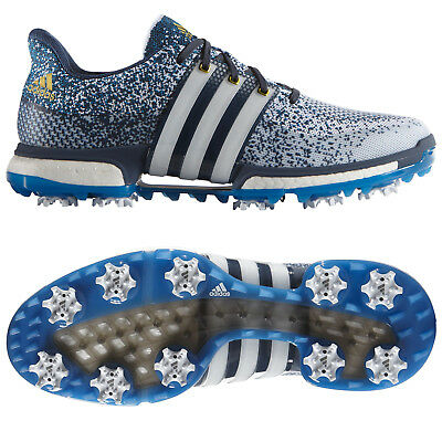 Adidas Mens Tour360 Primeknit Boost Golf Shoes - New Puremotion Spiked Fitfoam
