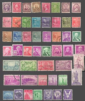 UNITED STATES USA Collection of 50 Stamps USED