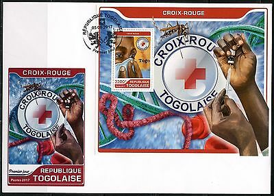 Togo 2017 Red Cross Souvenir Sheet First Day Cover
