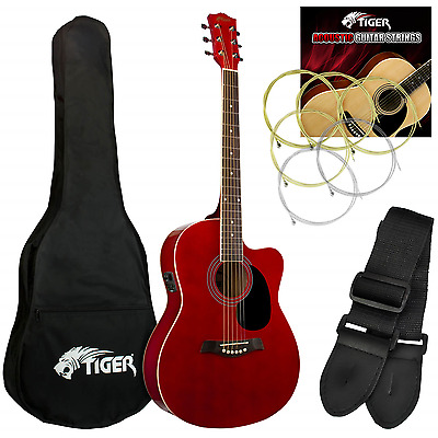 Ebay Item - Tiger Red Electro Acoustic Guitar