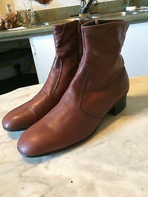 "vtg '1960-70 Beatles ""CIPO "" square toe hipster rockabilly mens boots sz 11"