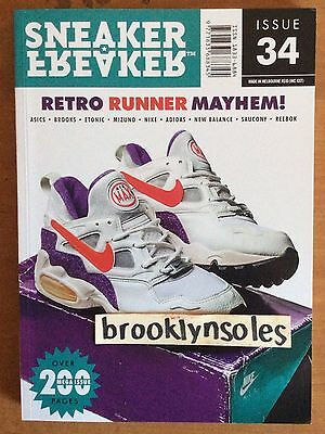 NEW Sneaker Freaker Magazine Issue # 34 Retro Runner Mayhem Cover