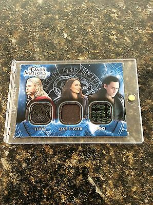 Marvel Thor The Dark World Cards Triple Material Hemsworth, Hiddleston, Portman!