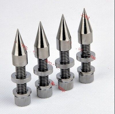 4pcs M8*60 Anti-Shock Spike Speaker Spike Cone Isolation Spike Stand Foot AMP