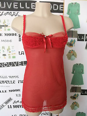 Intimissimi sottoveste tulle rosso IT 1B EU 70B USA/UK 32B FR 80B