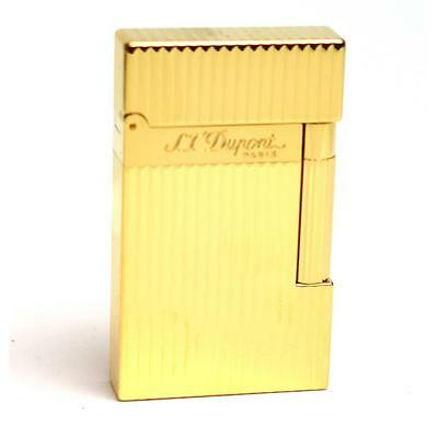 Accendino lighter S.T. Dupont linea ligne 2 16827 vertical lines yellow gold