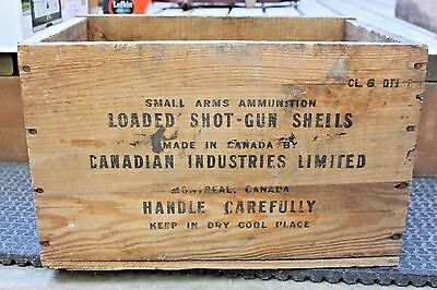 Cil Ammunition Or Shotgun Shell Imperial Wooden Box Ammo Crate Storage Gun Wood