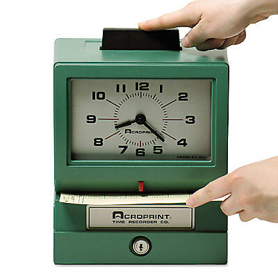 Model 125 Analog Manual Print Time Clock With Date/0-12 Hours/minutes-ACP0110704