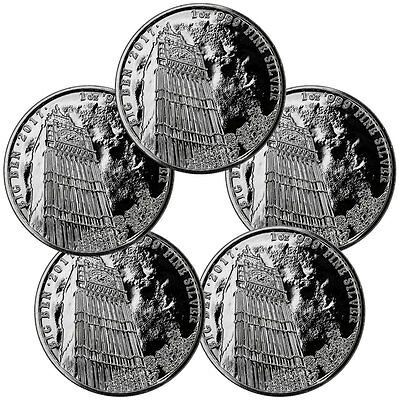 Lot of 5 2017 Great Britain 1 oz Silver Landmark of Britain Big Ben £2 SKU47518