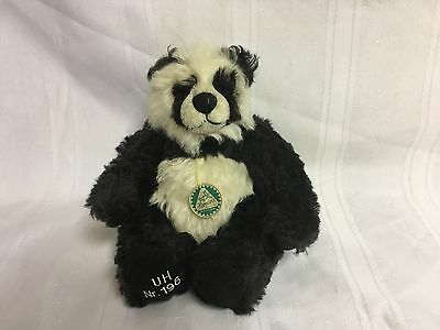HERMANN Germany Teddy Bear Collectible Doll PANDA #196 9""