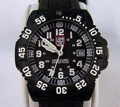 preowned authentic Luminox navy seal colormark 3050 series 3051 silicone watch