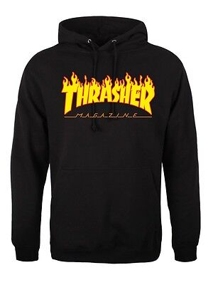 Thrasher Flame Magazine Logo Hoodie Hoody Top Pullover Skater *high Quality*