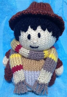 KNITTING PATTERN - Doctor Who inspired Tom Baker orange cover or 15 cms toy