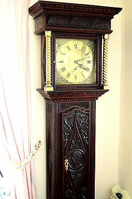 Antique 18th Century 'Mosley Peniston' Carved Oak Grandfather Clock 208 cm • £1,500.00