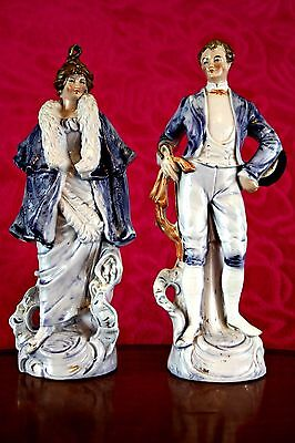 Pair of Antique German Porcelain Figurines