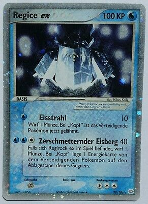 Pokemon Karte Regice EX Deutsch EX Smaragd 98/106 Mint NM Rarität Top