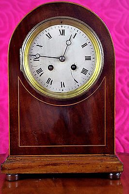 Antique Japy Freres Oak Case 8-Day Mantel Clock with Chimes