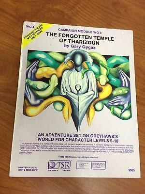 Advanced Dungeons and Dragons Module Forgotten Temple of Tharizdun WG4 TSR