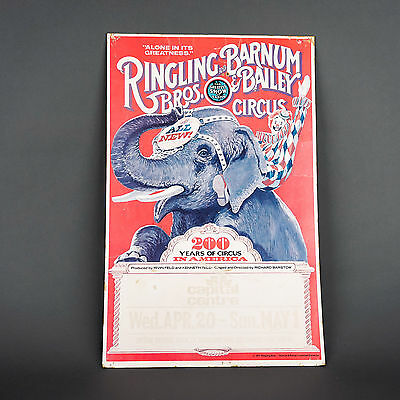Vintage 1977 Ringling Bros. 200 Years of Circus Advert Poster Capital Centre