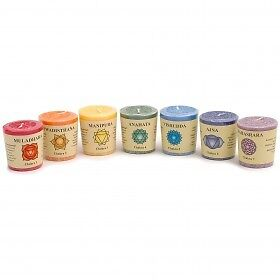 7 Chakra Candle Set - Heavenly Scented Essential Oils - Gift for the senses!
