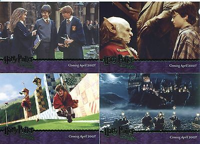 Harry Potter Sorcerers Stone Complete Green Stamped Promo Card Set 1-4