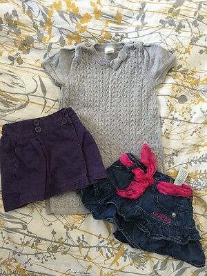 Jojomama & Guess Girls Skirt & H&M Dress - 12-18 M