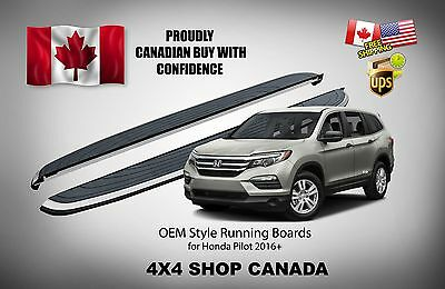 2016 and up OEM Style Fit Honda Pilot Running Boards Side Step Bar Nerf Bars