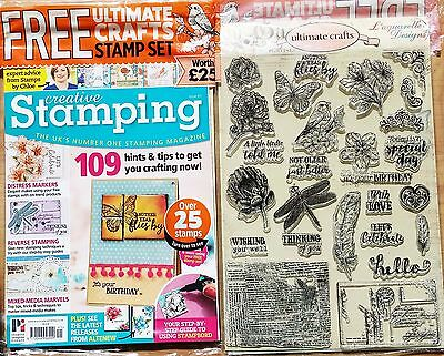 Creative Stamping Magazine Issue 41 FREE Ultimate Crafts clear stamps