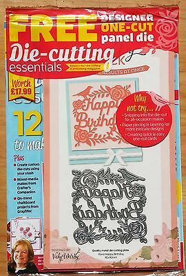 Die-cutting Essentials Magazine Issue 22 FREE Floral Happy Birthday Die