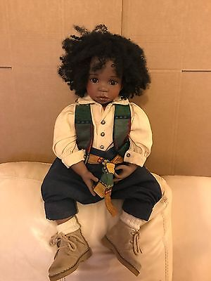 Rare The Celia Doll Company Limited Edition Porcelain Doll, Lewis, No.2 of 300