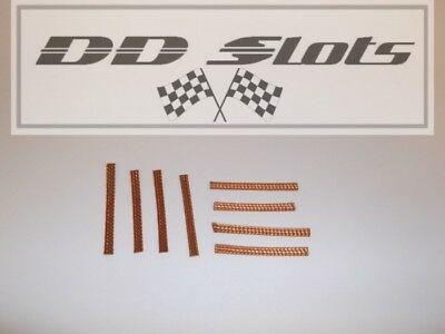 8 x DD Slots Scalextric & Slot Car 100% Copper Pick Up Braids