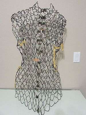 Vintage My Double Adjustable Wire Metal Mesh Dress Form Model B Right