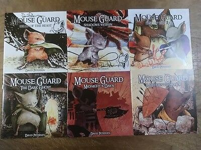 MOUSE GUARD 1 2 3 4 5 6 FULL RUN SIGNED & SKETCHED Peterson Belly of the Beast