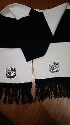 Black And White Port Vale Bar Scarf