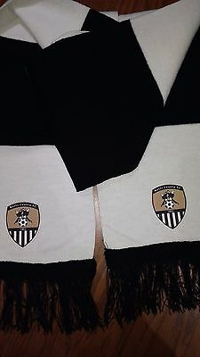 Black And White Notts County Bar Scarf
